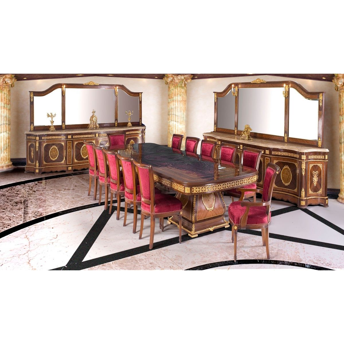 Σετ Τραπεζαρίας Palace of Fontainebleau  M-DR1596-Dining Set M-DR1596
